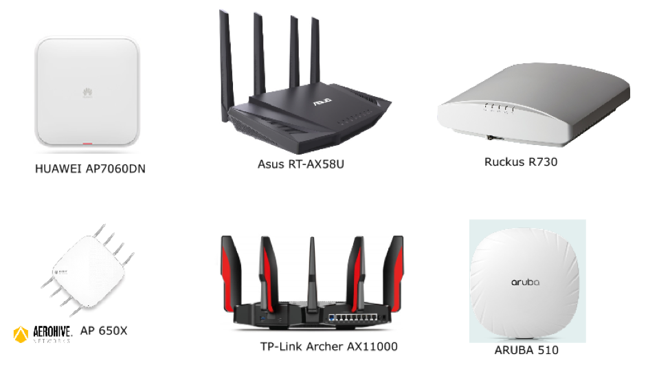 Points d'accès Wi-Fi : Huawaei - Asus - Ruckus - Aruba - AP 650X